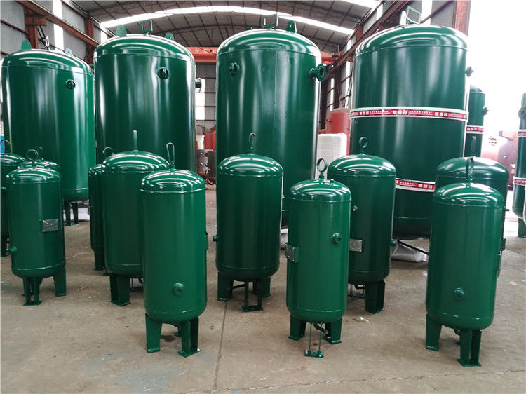 400 Gallon Vertical Industrial Compressed Air Receiver Tanks High Temperature Resistant