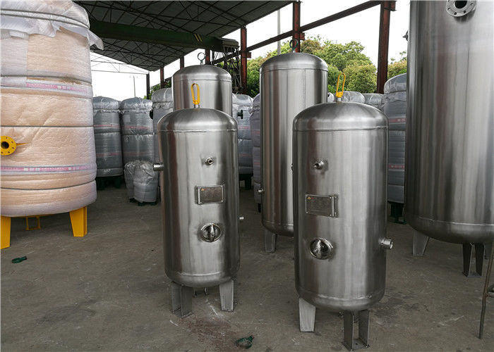 Stainless Steel Vertical Air Receiver Tank 3000psi Pressure ASME Certificate
